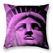 Lady Liberty In Pink Throw Pillow