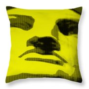 Lady Liberty In Yellow Throw Pillow