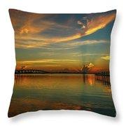 Lagoon Sunbeam Sunrise Throw Pillow
