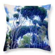 Laguna Eucalyptus 1917 Throw Pillow