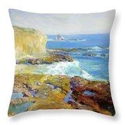 Laguna Rocks Low Tide 1916 Throw Pillow