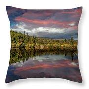 Lake Bodgynydd Sunset Throw Pillow