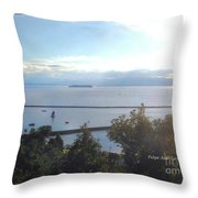Lake Champlain Early Afternoon Sunshine Enhanced Throw Pillow