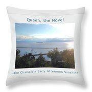 Lake Champlain Early Afternoon Sunshine Enhanced Poster Throw Pillow