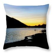 Lake Cuyamaca Sunset Throw Pillow