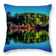 Lake Double Reflection Throw Pillow