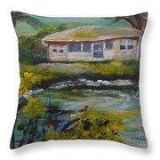 Lake Louise Throw Pillow by Saundra Johnson