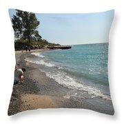 Lake Michigan Frankfort Mi Throw Pillow