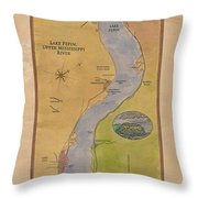 Lake Pepin Throw Pillow