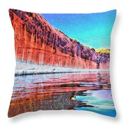 Lake Powell With Cliff Reflections Throw Pillow