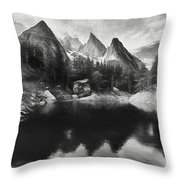 Lake Verde In The Alps IIi Throw Pillow