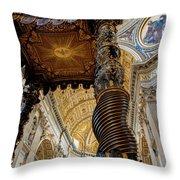 L'altare Di Bernini Throw Pillow
