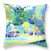 Landscape - Digital Remastered Edition Throw Pillow