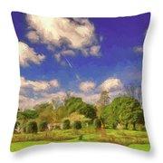 Landscape Gardening Throw Pillow by Leigh Kemp