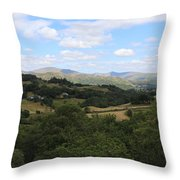 Landscape View From Little Langdale Throw Pillow