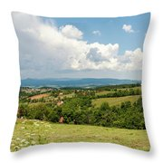 Landscape With Orchards Throw Pillow