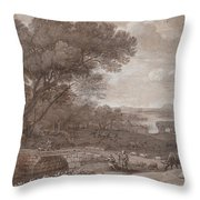 Landscape With The Rest On The F  Throw Pillow