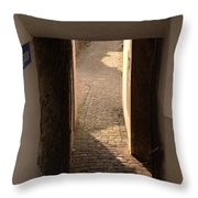 lane in Cochem-Cond in Germany Throw Pillow