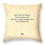 Langston Hughes Life Quotes Book Lover Gifts Typewriter Quotes Throw Pillow For Sale By Siva Ganesh
