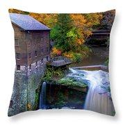 Lanterman's Mill In Fall Throw Pillow
