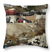Las Vegas Homeless 3 Throw Pillow