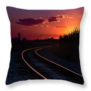 Last Night's Sunset Throw Pillow