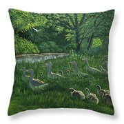 Last One In's A Duck Throw Pillow