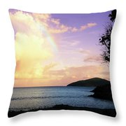 Last Rainbow Of The Day Throw Pillow
