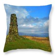 Latterbarrow In Lake District National Park Cumbria Throw Pillow