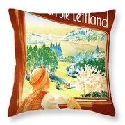 Latvia Throw Pillow