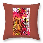 Laughing Flowers Throw Pillow