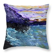 Lava Cove Throw Pillow