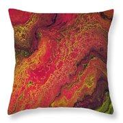 Lava Geode Throw Pillow