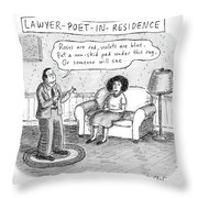 Lawyer Poet In Residence Throw Pillow