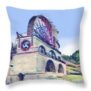 Laxey Wheel 6 Throw Pillow