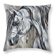 Lazy Stallion Throw Pillow