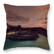 Le Port Des Pecheurs Throw Pillow