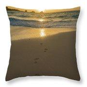 Leading To The Light Coastal Sunrise Throw Pillow