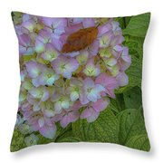 Leaf And Pink Throw Pillow