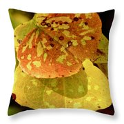 Leaf Patterns Throw Pillow
