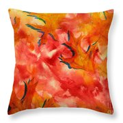Leaf Shapes Emerging Throw Pillow