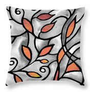 Leaves And Curves Art Nouveau Style Xii Throw Pillow