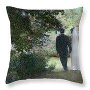 Leaving The Wedding Throw Pillow by Wayne King