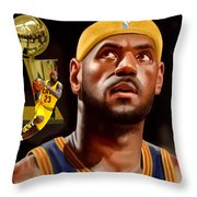 Lebron Throw Pillow