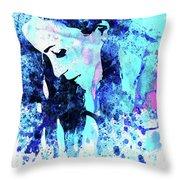 Legendary Alanis Morissette Watercolor Throw Pillow