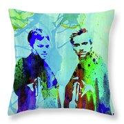 Legendary Boondock Saints Watercolor Throw Pillow