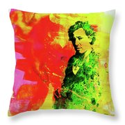 Legendary Bruce Watercolor Throw Pillow