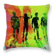 Legendary Clockwork Orange Watercolor Throw Pillow