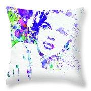 Legendary Judy Garland Watercolor I Throw Pillow