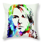 Legendary Kurt Cobain Watercolor Throw Pillow